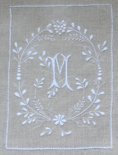 SAL cahier de broderie, broderie blanche