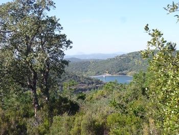 Vue sur le barrage