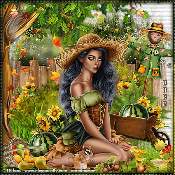 "Ma réalisation du tuto ""Lovely Garden"""