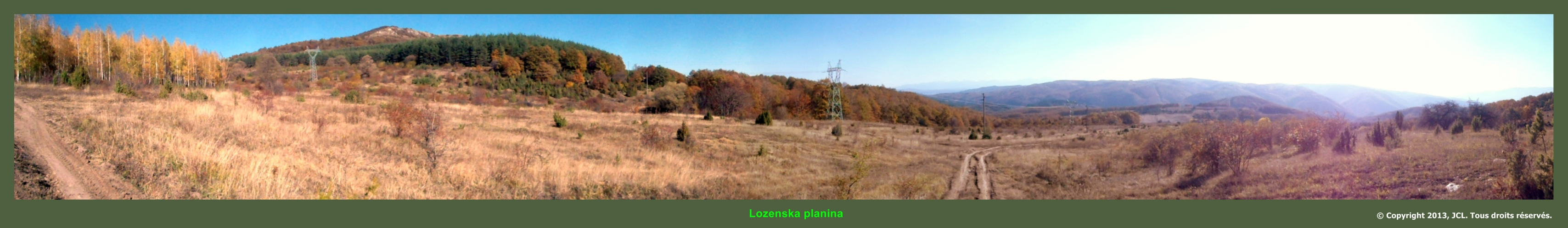 panorama lozenska planina
