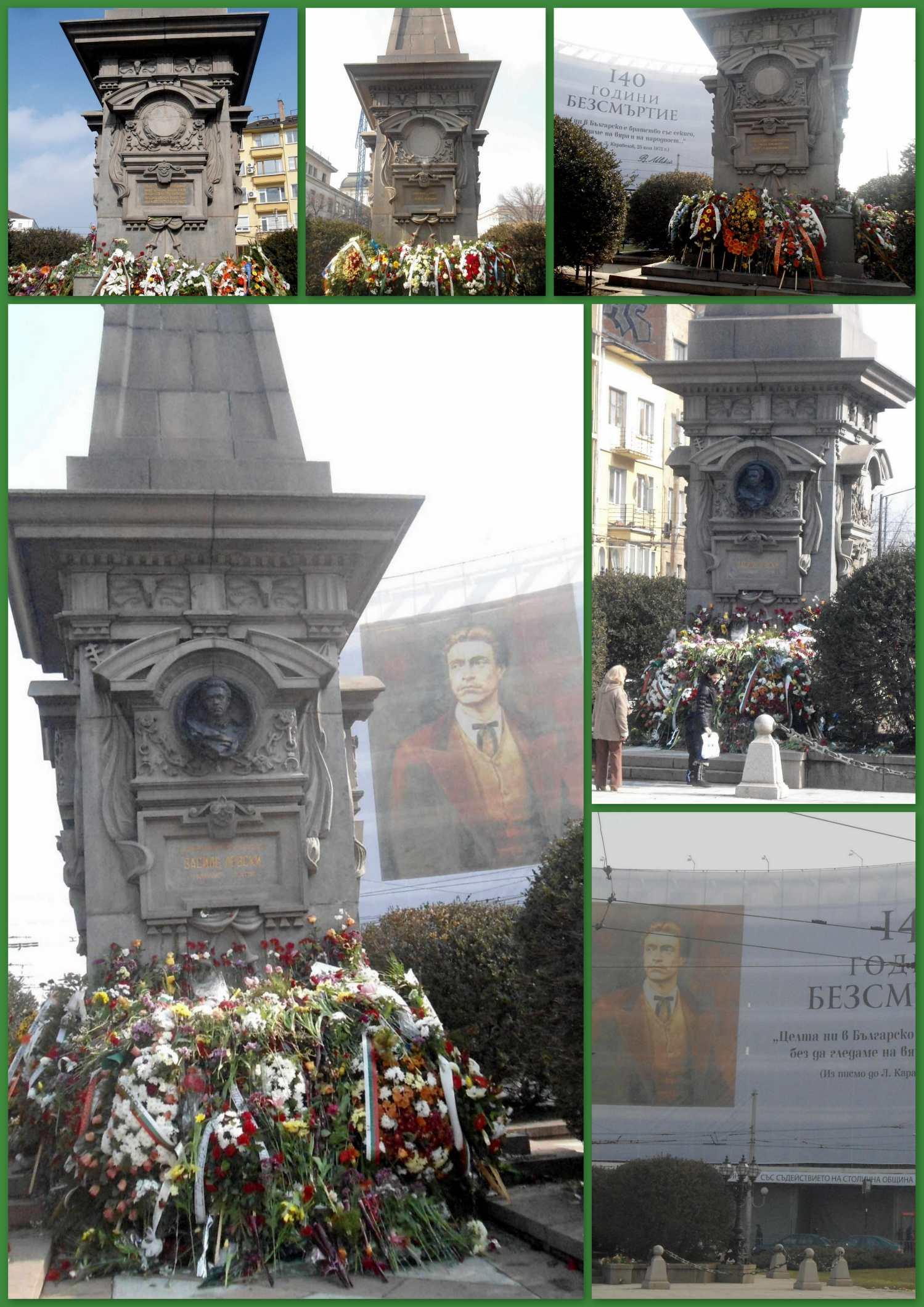 monument Levski un jour après