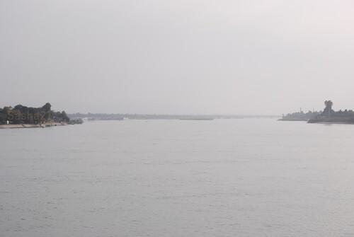 Vues du bateau, sur le Nil.