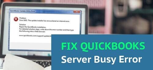 QuickBooks Error Server Busy