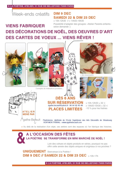 week-end stages d'art visuel !