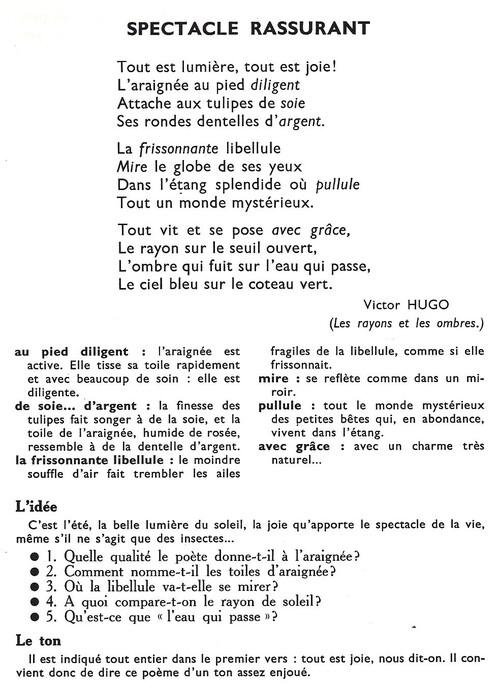 SPECTACLE RASSURANT (Victor Hugo)