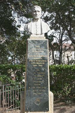 Monument à Louis Braille, Marseille, jardin de la colline Puget.