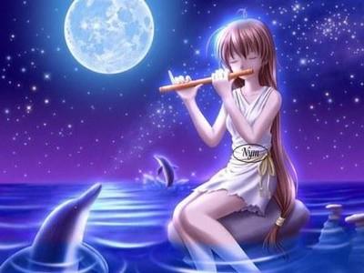 fille jouant de la flute
