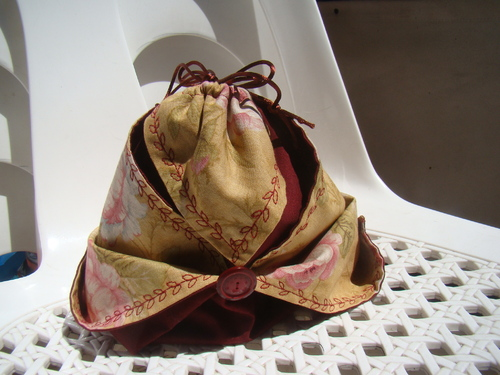 pochon en origami