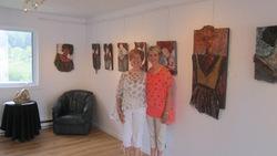 Vernissage de l'exposittion MaiVernissage de l'exposition à la Maison des Arts et du patrimoine, Notre-Dame-du-Laus, 23 juin 2013