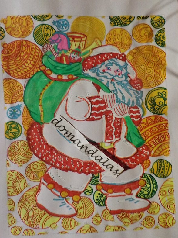 DOMANDALAS  coloriage JOYEUX NOEL