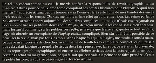> Altuna Horacio @Hommages à l'auteur