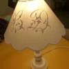 ANNICK abat jour sur pied de lampe