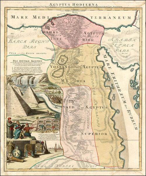 Johann Baptiste Homann:  Aegyptus Hodierna. (1664/1724)