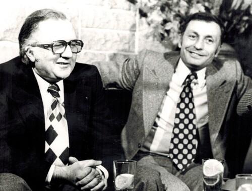 Jean Richard et le directeur de son cirque André Vylar