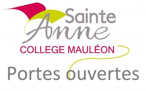 Portes ouvertes collège Ste Anne Mauléon
