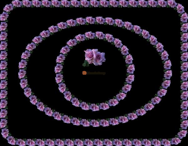 Cadres florale coins arrondis