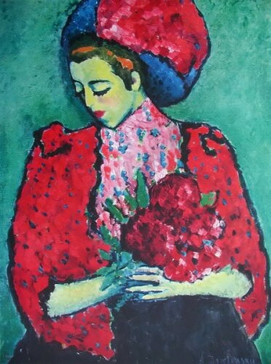 Alexi Von Jawlensky, Femme avec fleurs, 1909