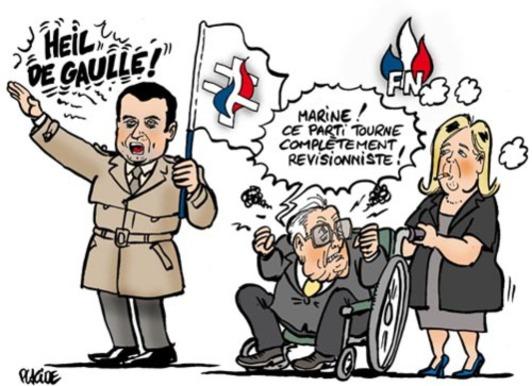 Le Front national perd des plumes ..