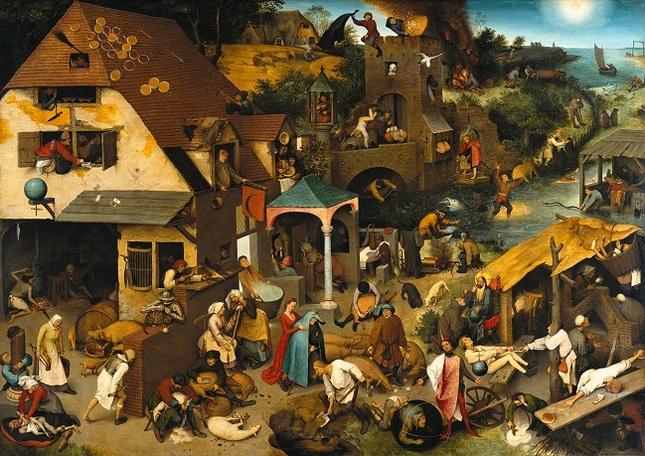 Pieter Brueghel l' Ancien, les proverbes flamands, (Partie deux).