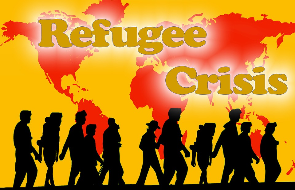 Carte Du Monde, De L'Homme, Groupe, Réfugiés, Aide