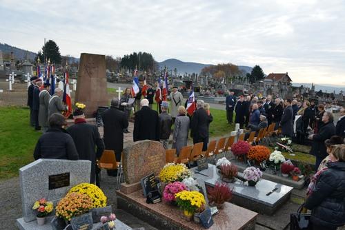 * A Giromagny le 20 novembre, l'hommage de la délégation de l'Amicale de la D.F.L. au cimetière