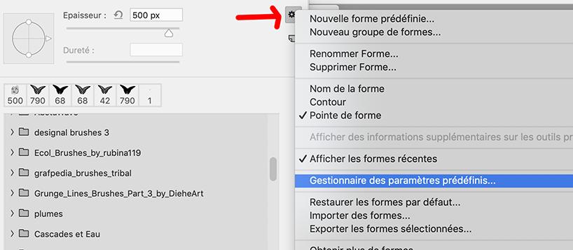 """Créer des pinceaux et les sauver en fichier """".abr"""""""
