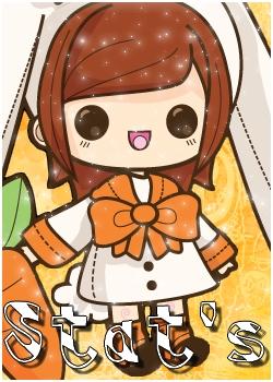 Thème Kawaii orange libre service