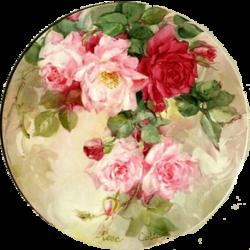 **Médaillons de fleurs**Papiers IM