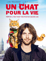 Un chat pour la vie : Réfugié dans la drogue depuis l'adolescence, James Bowen est un jeune SDF Anglais en manque de repères. Un jour, il trouve un chat abandonné qui s'appelle Bob et les deux deviennent inséparables. Un duo improbable et une amitié hors du commun qui vont aider James à sortir de l'enfer. Il rencontre l'amour et renoue avec sa famille, tout en devenant un livreur de journaux en compagnie de son nouvel animal de compagnie. ... ----- ...  Origine : Britannque Réalisé par : Roger Spottiswoode Acteurs : Luke Treadaway, Ruta Gedmintas, Joanne Froggatt Durée : 1h43 Genre : Drame, Comédie, Biopic Date de sortie : 7 mars 2018 en DVD Année de production : 2016 Critiques Spectateurs : 3,0