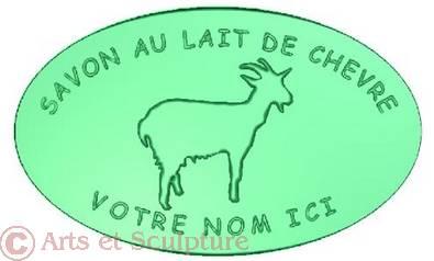 moule personnalisé savon au lait de chèvre - Arts et Sculpture: sculpteur mouleur