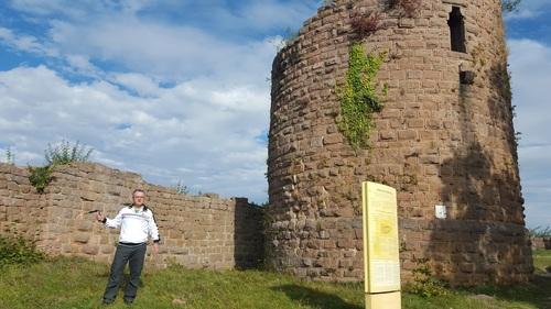 La crypte du château du Frankenbourg, à quelques pas de la Tour. (Albert Fagioli)