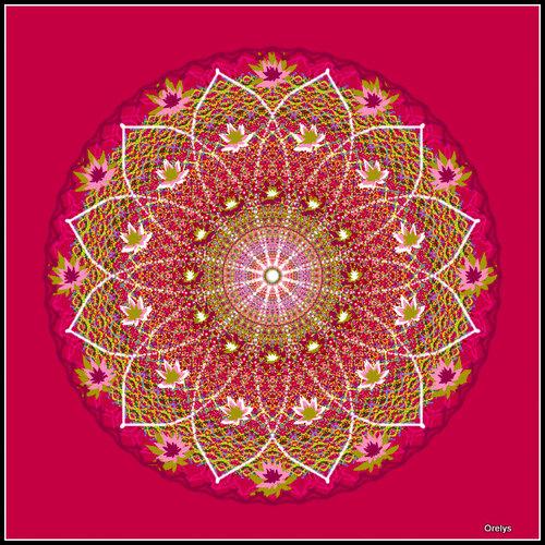 Mandala fleur d'éveil