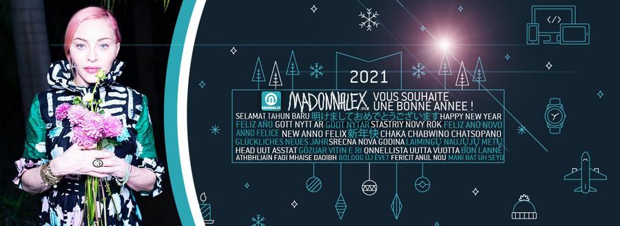 Madonnalex vous souhaite une bonne année 2021