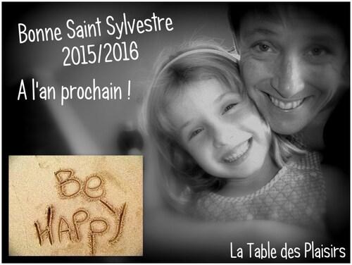 Menu de La Saint Sylvestre 2015 / 2016