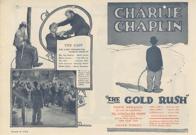 THE GOLDRUSH PRESSBOOK 1925