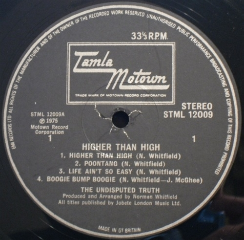 "1975 : Album "" Higher Than High "" Gordy Records G6-972S1 [ US ]"