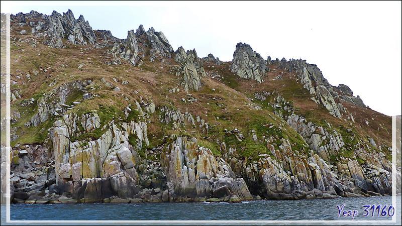 Paysage inhospitalier - Ukivok - King Island (Ugiuvak) - Détroit de Béring - Alaska
