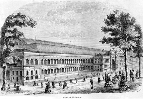 Palais de l'Industrie, exposition universelle de 1863. Orphéons