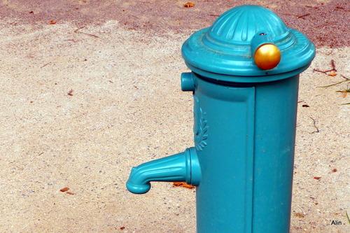 C'est de l'ancien : fontaine et carrelage