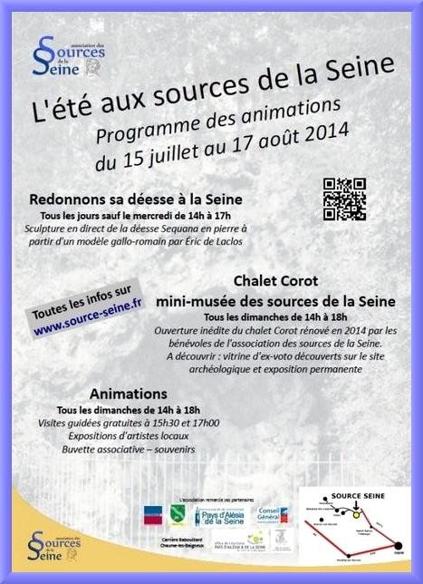 Des artistes aux sources de la Seine....