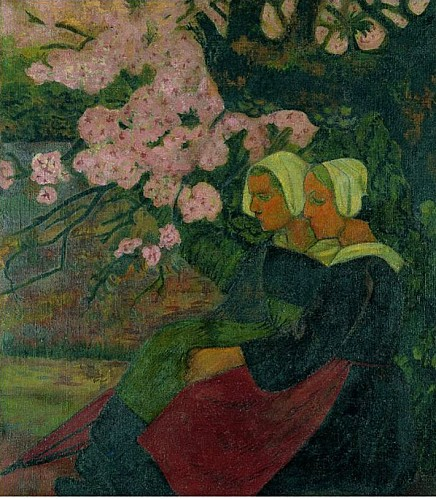 Two Breton Women under an Apple Tree in Flower 1892 Paul Se