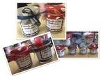 Etiquettes pots à confiture de mots doux fêtes des mères