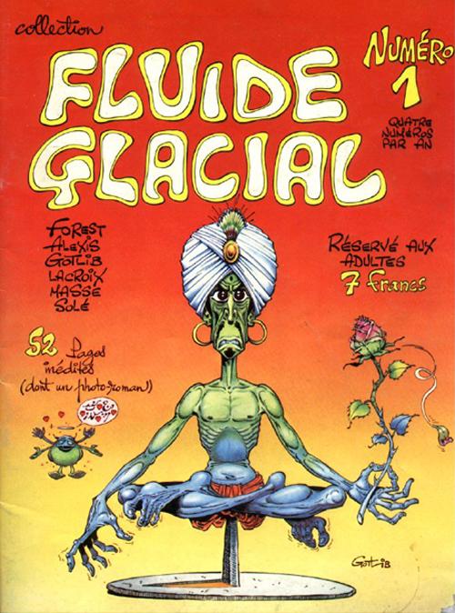 Fluide Glacial, couverture du numéro 1, 1975. Gotlib est l'auteur de la majorité des pages de ce numéro.