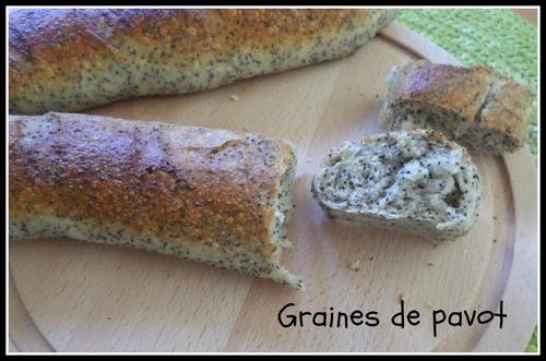 Baguette au graines de Pavot
