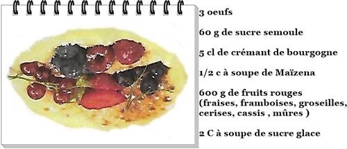 Gratin de fruits rouges aux crémant de Bourgogne