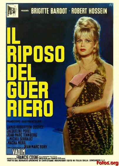 LE REPOS DU GUERRIER - BOX OFFICE BRIGITTE BARDOT 1962