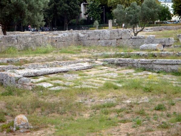 Paestum, plan incliné de la piscine