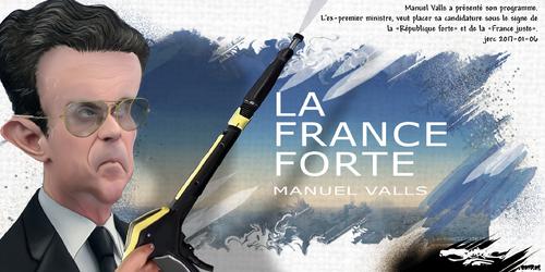 "dessin de JERC vendredi 06 janvier 2017 caricature Nicolas Valls, Manuel Sarkozy ""j'ai changé""  la droite c'est maintenant www.facebook.com/jercdessin"
