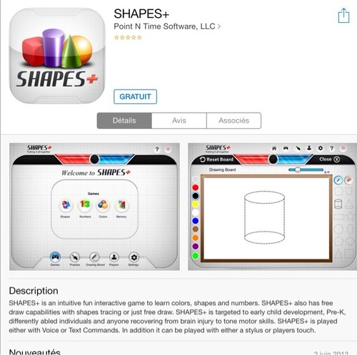 [appli gratuite] Shapes+