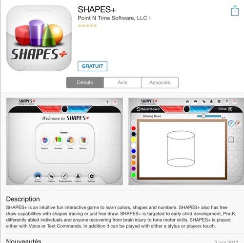 [appli gratuite] Shapes+